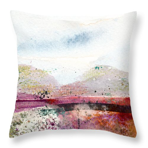 Hudson Valley Throw Pillow featuring the painting Around The Hudson by Janet Gunderson