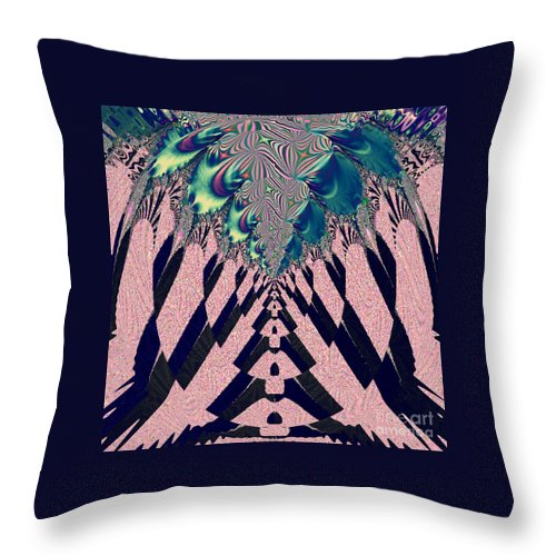 Around The Throne Throw Pillow featuring the digital art Around The Throne by Luther Fine Art