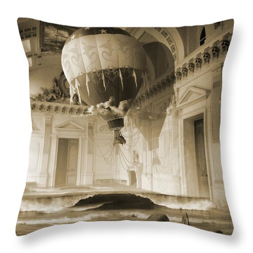 Balloon Throw Pillow featuring the digital art Arrested Expansion or Cardiac Arrest by George Grie
