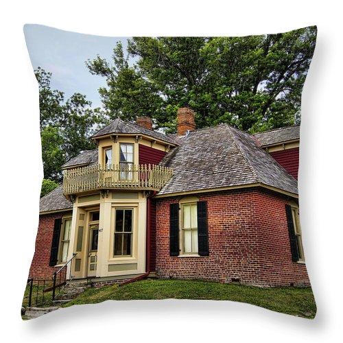 Arrow Throw Pillow featuring the photograph Arrow Rock - John P Sites Home by Cricket Hackmann