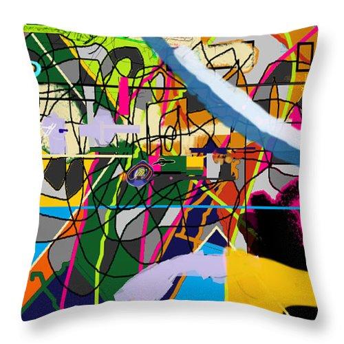 Torah Throw Pillow featuring the digital art Chidush B'daas 4ba by David Baruch Wolk