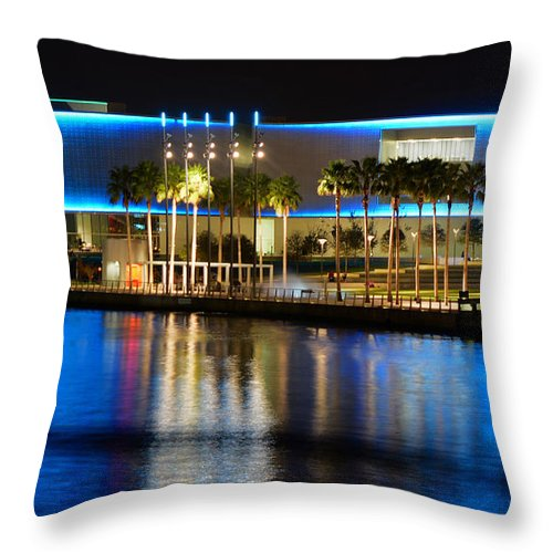 Fine Art Photography Throw Pillow featuring the photograph Art In Reflection by David Lee Thompson