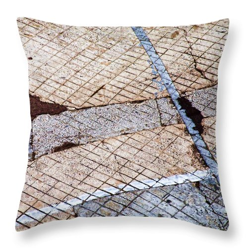 Urban Throw Pillow featuring the photograph Art In The Street 3 by Carol Leigh