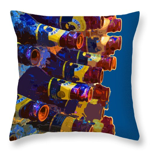 Bottle Throw Pillow featuring the photograph Art Of Bottles by Jost Houk