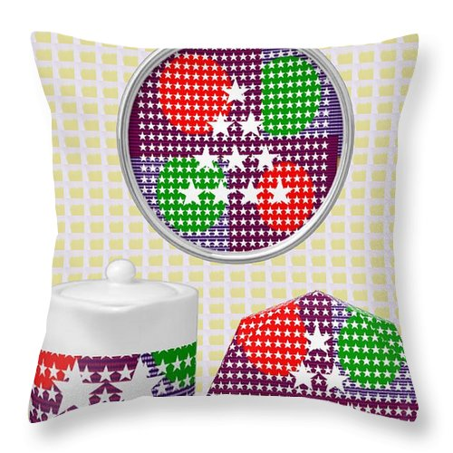 Art On Gifts Throw Pillow featuring the mixed media Art On Gifts Pod Products Ornaments Tea Cup Award Reward Grant Appreciation Acknowledgement Meeting by Navin Joshi