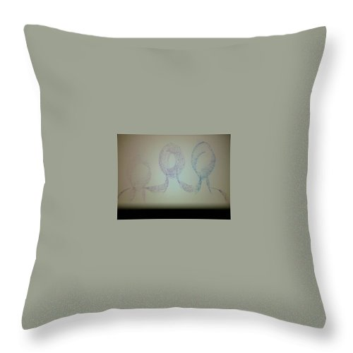 Three Throw Pillow featuring the photograph Art Therapy 100 by Michele Monk