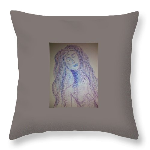 Woman Throw Pillow featuring the photograph Art Therapy 103 by Michele Monk