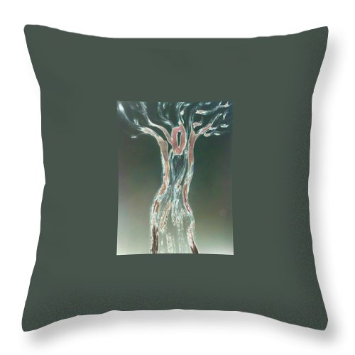 Tree Throw Pillow featuring the photograph art Therapy 30 by Michele Monk