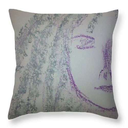 Dredlocks Throw Pillow featuring the photograph Art Therapy 44 by Michele Monk