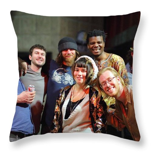 Artists Throw Pillow featuring the photograph Artists Artists Artists by PJQandFriends Photography