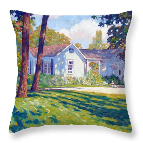 City Throw Pillow featuring the painting Artists Home by Kevin Lawrence Leveque