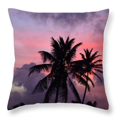 Aruba Throw Pillow featuring the photograph Aruba Sunset by DejaVu Designs
