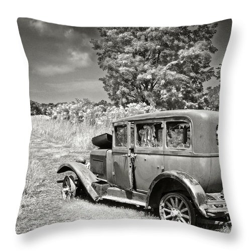 Cars Throw Pillow featuring the photograph As Is by John Anderson
