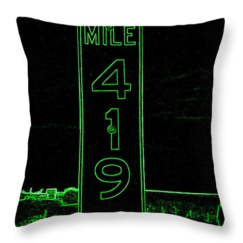 Throw Pillow featuring the photograph As Pure As It Gets In Green Neon by Kelly Awad