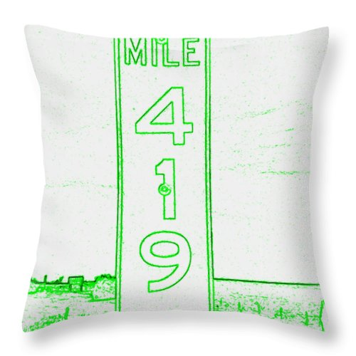 Throw Pillow featuring the photograph As Pure As It Gets Inverted by Kelly Awad