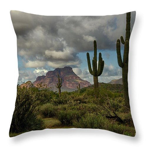 Arizona Throw Pillow featuring the photograph As The Clouds Pass By by Saija Lehtonen