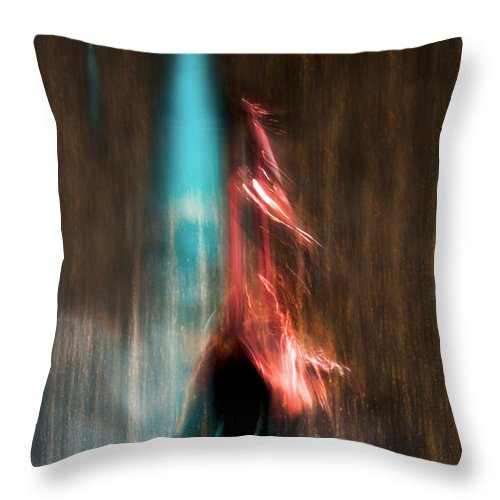 Abstract Throw Pillow featuring the photograph Ascension by Linda McRae
