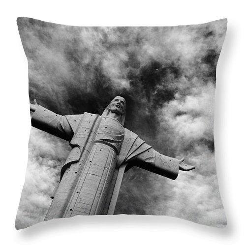 Jesus Christ Throw Pillow featuring the photograph Ascent To Heaven by James Brunker