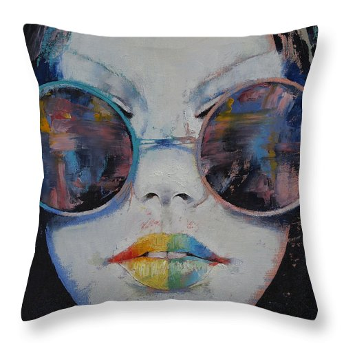 162cc41bea7b 亚洲 Throw Pillow featuring the painting Asia by Michael Creese