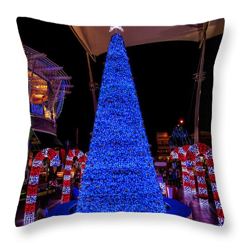 Hdr Throw Pillow featuring the photograph Asian Christmas Display by Adrian Evans