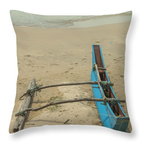 Lanka Throw Pillow featuring the photograph Asian Fishing Boat by Patricia Hofmeester