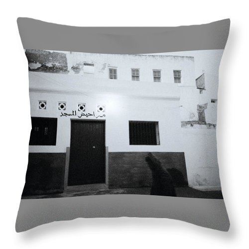 Night Throw Pillow featuring the photograph Asilah by Shaun Higson