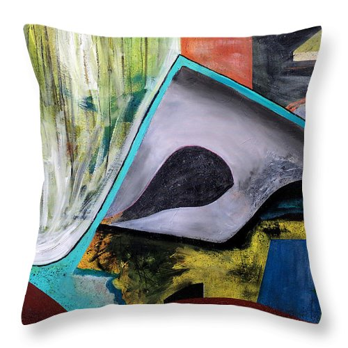 Abstract Art Throw Pillow featuring the painting Aspen by Antonio Ortiz