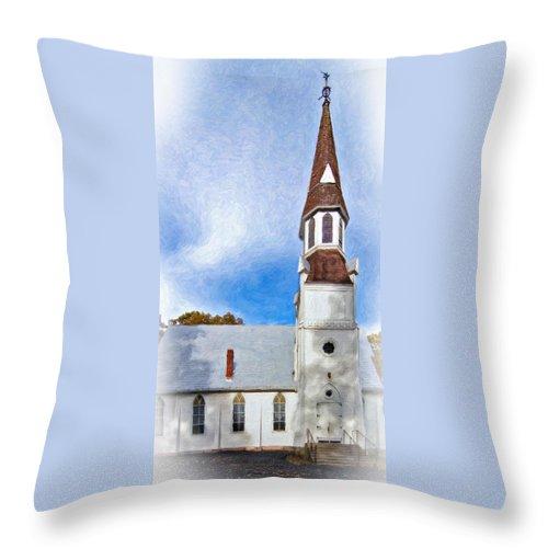 Chapel Throw Pillow featuring the photograph Aspiring Chapel Impasto by Steve Harrington