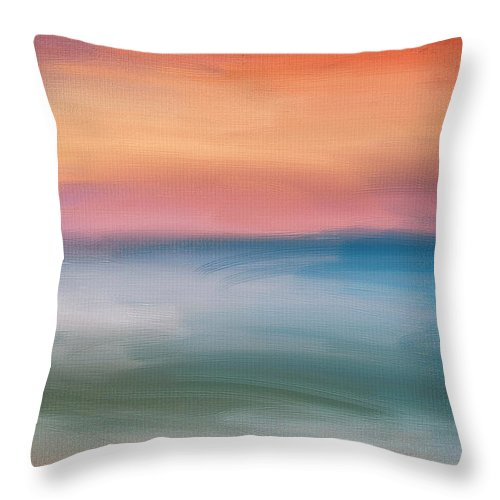 Seascapes Abstract Throw Pillow featuring the digital art Astound by Lourry Legarde