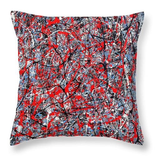 Abstract Throw Pillow featuring the painting Astral Gate 2001 by RalphGM