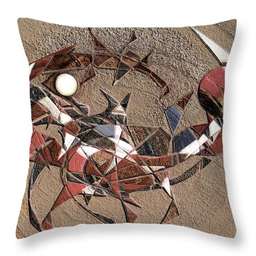 Astrologies Throw Pillow featuring the digital art Astrologies 5 by Warren Furman