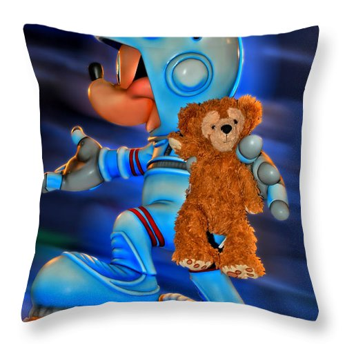 Fantasy Throw Pillow featuring the photograph Astronaut Training Bear by Thomas Woolworth