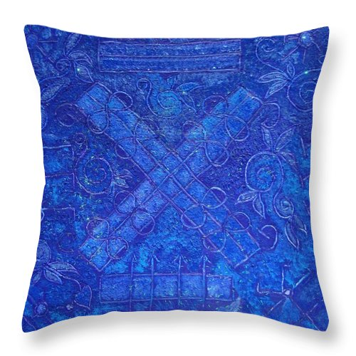 Spiritual Throw Pillow featuring the painting Astros by Joanna Pilatowicz