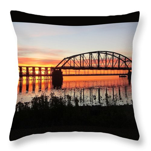 Sunrise Throw Pillow featuring the photograph At Peace by Alison Gimpel