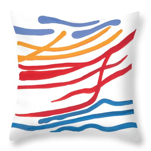 Nautic Throw Pillow featuring the painting At Sea by Bjorn Sjogren