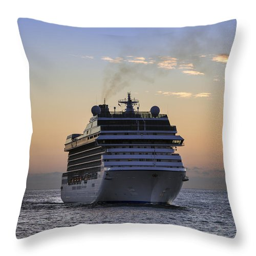 Sea Throw Pillow featuring the photograph At Sea by John Greim