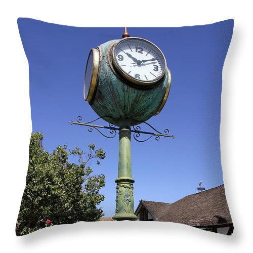 Arrow Throw Pillow featuring the photograph At Ten After Ten In Solvang by Christiane Schulze Art And Photography