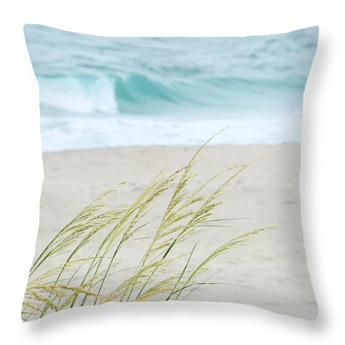 Landscape Throw Pillow featuring the photograph By The Sea by Sabrina L Ryan