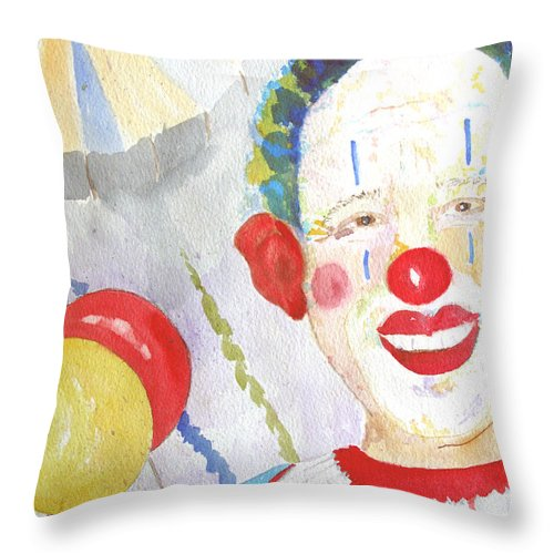 Circus Throw Pillow featuring the painting At The Circus by Sandy McIntire