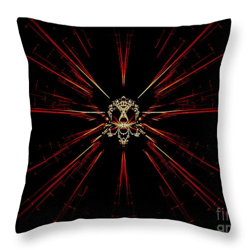 Digital Throw Pillow featuring the digital art At The Core by Renee Trenholm