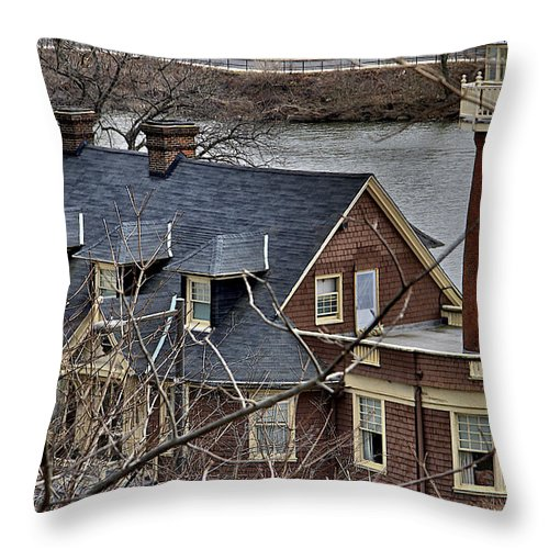 Boathouse Row Throw Pillow featuring the photograph At The End Of Boathouse Row by Alice Gipson