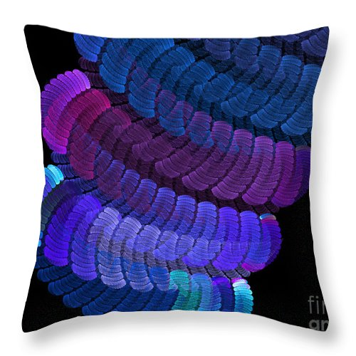 Abstract Throw Pillow featuring the digital art At The End Of My Rope by Andee Design