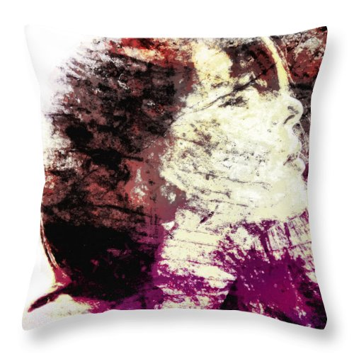 Www.themidnightstreets.net Throw Pillow featuring the painting At This Very Moment by Joe Misrasi