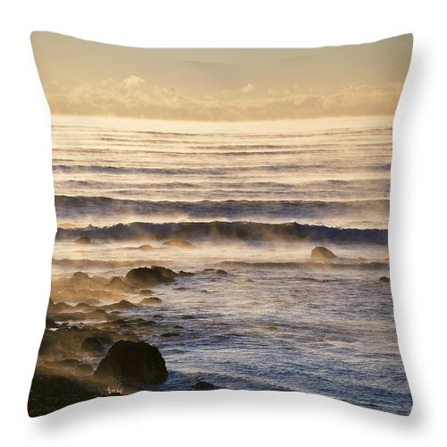Atlantic Throw Pillow featuring the photograph Atlantic Chill by Eric Gendron