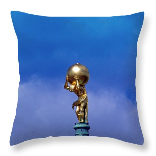 Atlas Throw Pillow featuring the photograph Atlas by FL collection