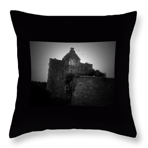 Bodmin Throw Pillow featuring the photograph Atmospheric Bodmin Jail by Lisa Byrne