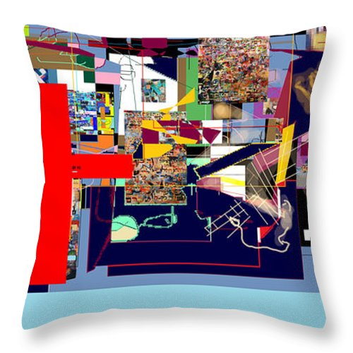 Torah Throw Pillow featuring the digital art Atomic Bomb Of Purity 1a by David Baruch Wolk