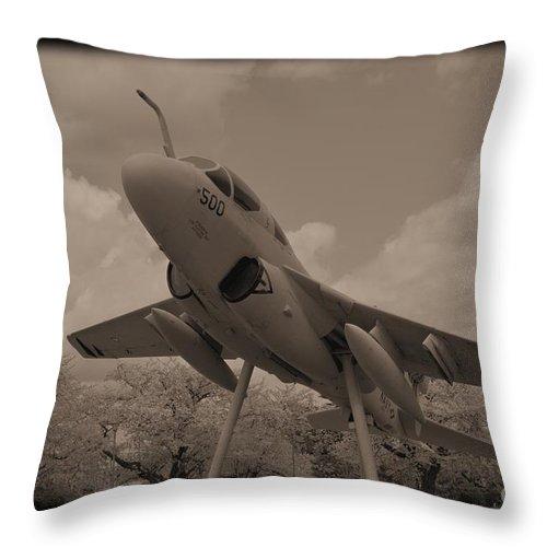 Atsugi Throw Pillow featuring the photograph Atsugi Prowler D by Jay Mann