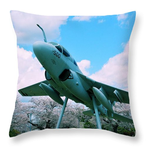 Atsugi Throw Pillow featuring the photograph Atsugi Prowler N by Jay Mann
