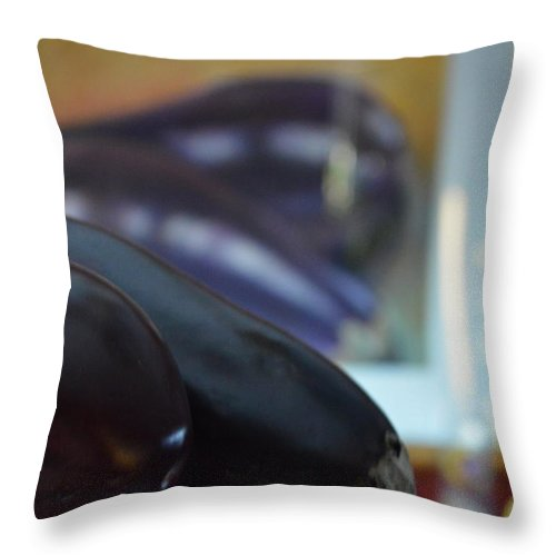 Aubergine Throw Pillow featuring the photograph Aubergine A Go Go by Brian Boyle